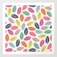 Bright Leaves Art Print