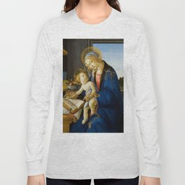 The Virgin and Child by Sandro Botticelli Long Sleeve T-shirt