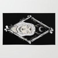 bones Area & Throw Rugs featuring Bones by alesaenzart