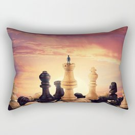 the rise of a chess player Rectangular Pillow