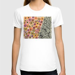 Circles and Flowers- Yellow T-shirt