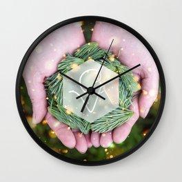 CV Pine Offering Wall Clock