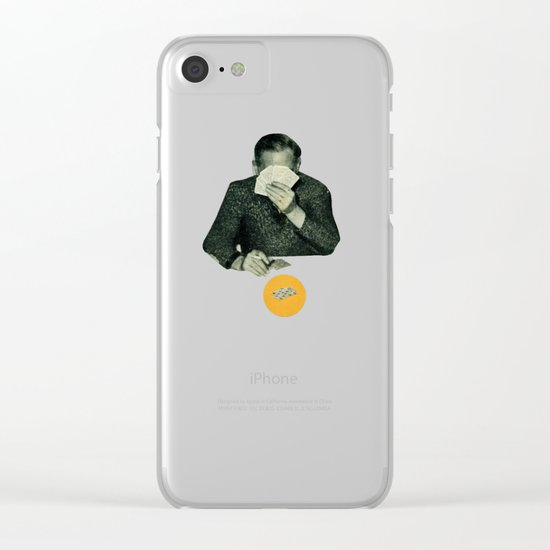 Poker Face Clear iPhone Case