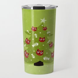 Cat Christmas Tree Travel Mug