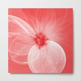 Red Fairy Blossom Fractal Metal Print