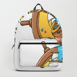Sail Ship  sailor and boatman sea tattoo lover gift Backpack