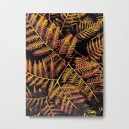 Peachy Yellow Bracken Metal Print