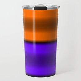 Orange & Purple Horizontal Stripes Travel Mug