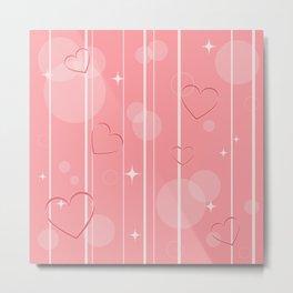 Heart shapes Metal Print