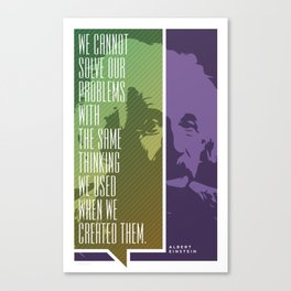 Einstein – Genius Quotes Canvas Print