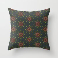 vegetable Throw Pillows featuring Vegetable Medley by Veronica Galbraith
