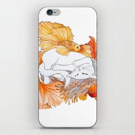 Cat dreams iPhone Skin