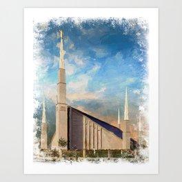Boise Idaho LDS Temple Art Print