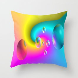 Paintballs Throw Pillow