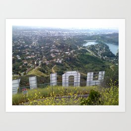 From Behind the Hollywood Sign Art Print