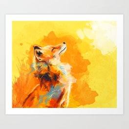 Blissful Light - Fox portrait Art Print