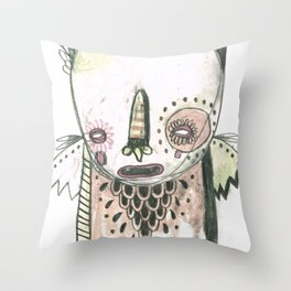 Random Monster Drawing 01 Throw Pillow