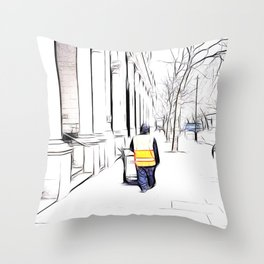 City Streets 3 Throw Pillow