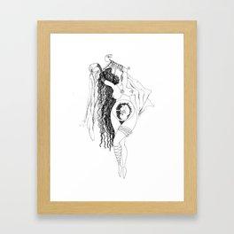 Everyday dance Framed Art Print