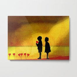 courageous Metal Print