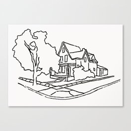 Dearborn Street Sketch Canvas Print