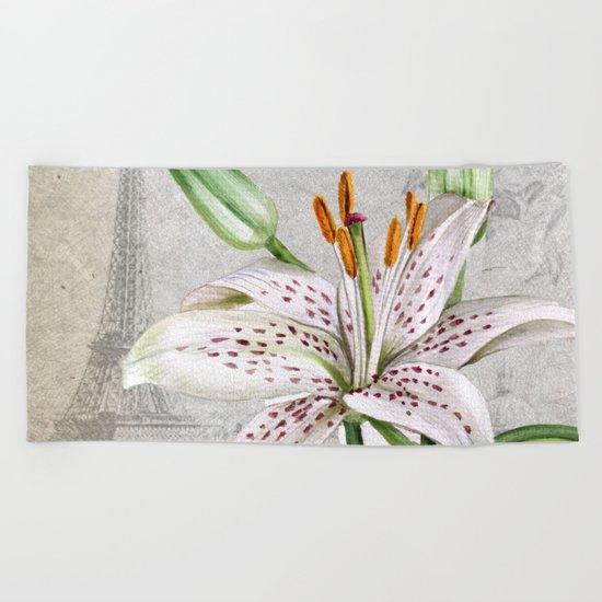 Macro Flower #3 Beach Towel