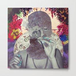 Glitter Bloc Metal Print