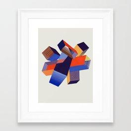 Geometric Painting by A. Mack Framed Art Print