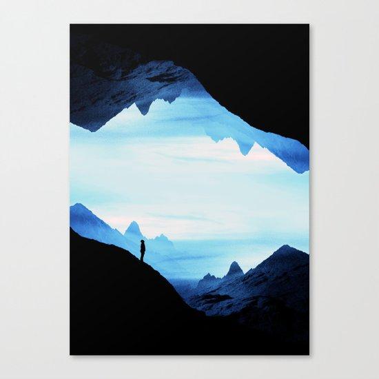 Blue Wasteland Isolation Canvas Print
