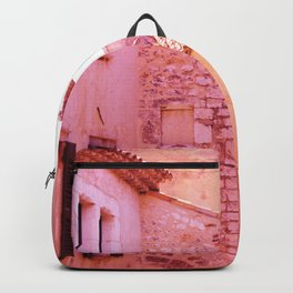 Ancient pink village Backpack