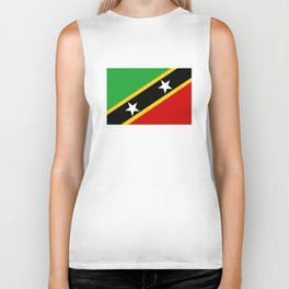 Saint Kitts and Nevis country flag Biker Tank