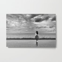 Little Human Artwork - Through Metal Print