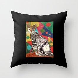 ZENTANGLE CAT II Throw Pillow