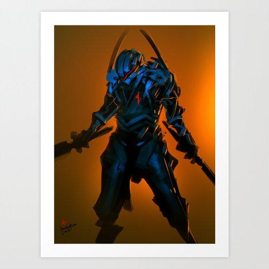 Blue Chaos Assassin Art Print