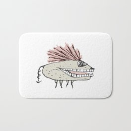 Monster Rat Hand Draw Illustration Bath Mat