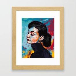 Audrey Hepburn - Fallen legends Framed Art Print