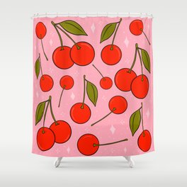 Cherries on Top Shower Curtain