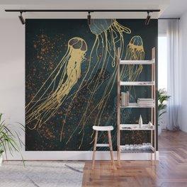 Metallic Jellyfish Wall Mural