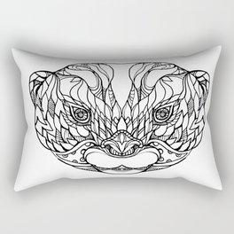 Oriental Small-clawed Otter Doodle Art Rectangular Pillow