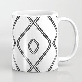 Modern Boho Ogee in Black and White Coffee Mug