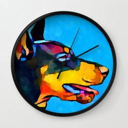 Doberman Wall Clock