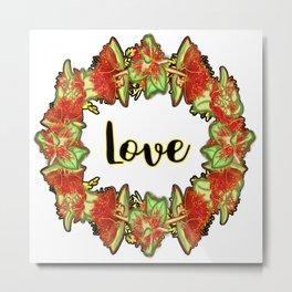 'Love' - Australian Native Flower Print Metal Print