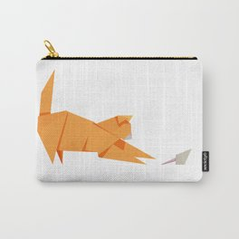 Origami Cat and Mouse Carry-All Pouch