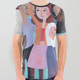 WHY AM I ME? SUBWAY SCENE All Over Graphic Tee