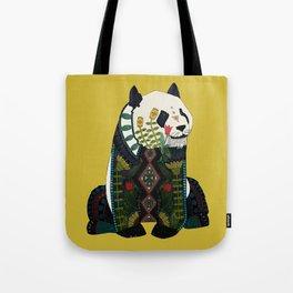 panda ochre Tote Bag