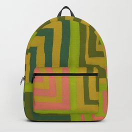 Painted Color Block Squares Backpack