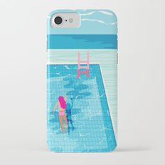 In Deep - memphis throwback swimming athlete palm springs resort vacation country club infinity pool iPhone 7 Slim Case