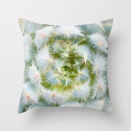 Cactus close-up shot, natural floral abstract Throw Pillow