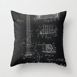 Gibson Guitar Patent Les Paul Vintage Guitar Diagram Throw Pillow