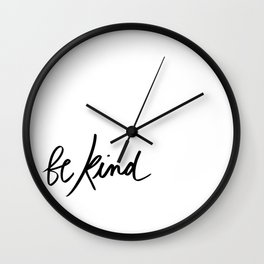 Be Kind | White Wall Clock